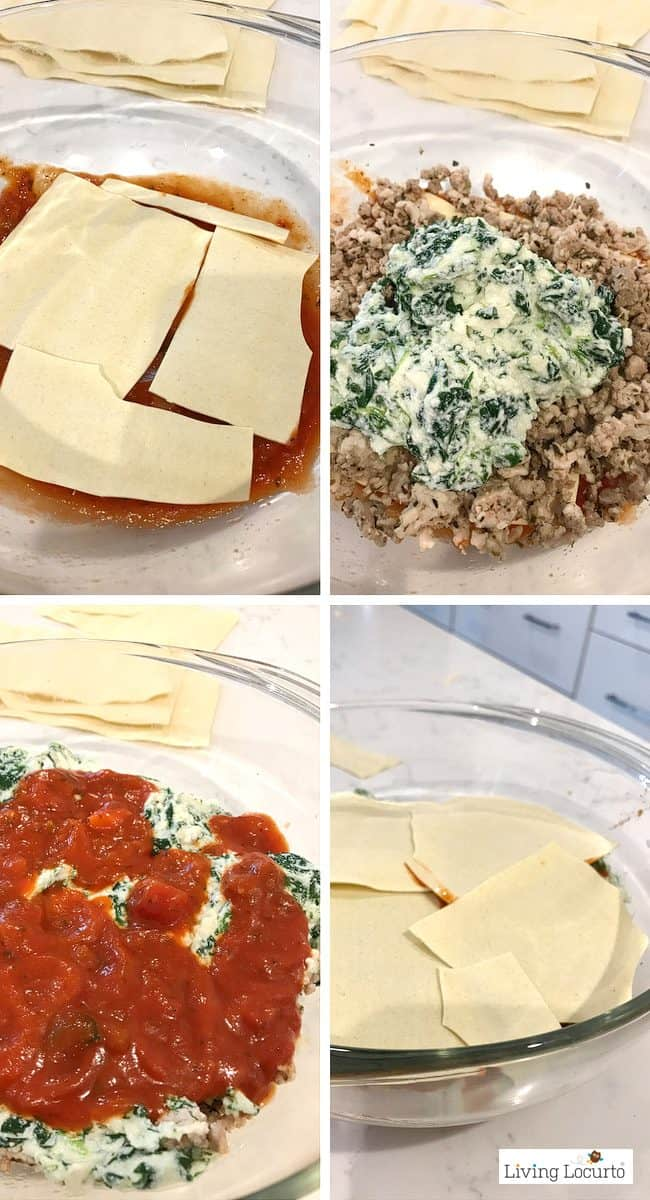 Instant Pot Lasagna is delicious! Try this healthy Ground Turkey Spinach Lasagna recipe in your pressure cooker for dinner.