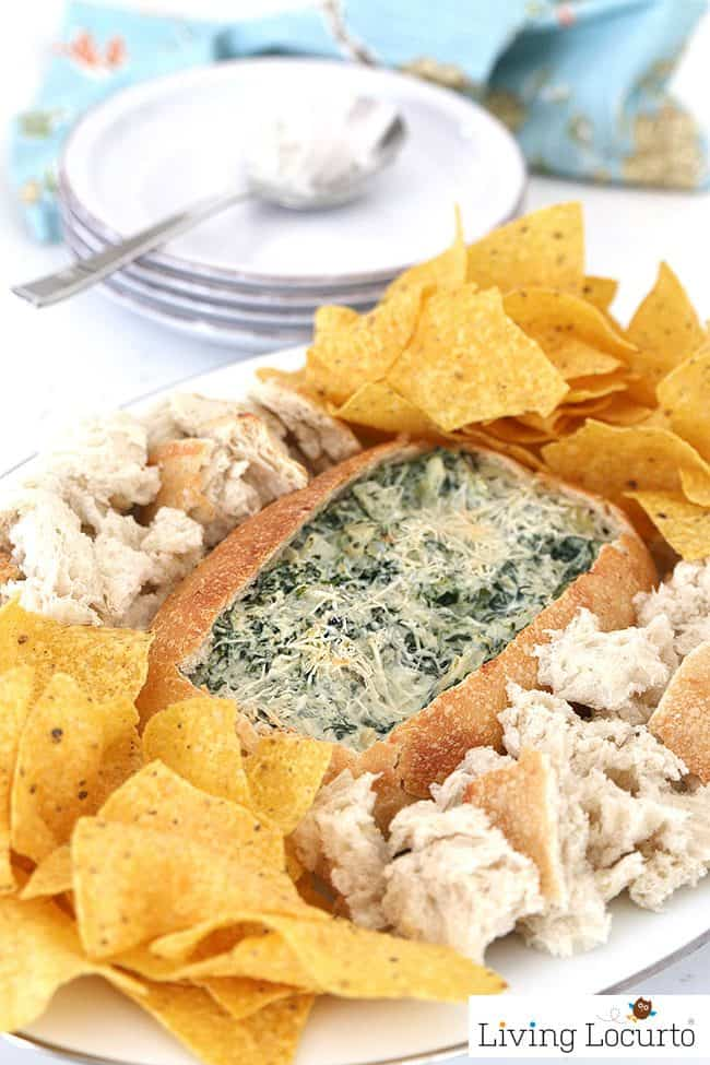 Spinach Dip Bread Bowl - Easy Recipe for Instant Pot Pressure Cooker