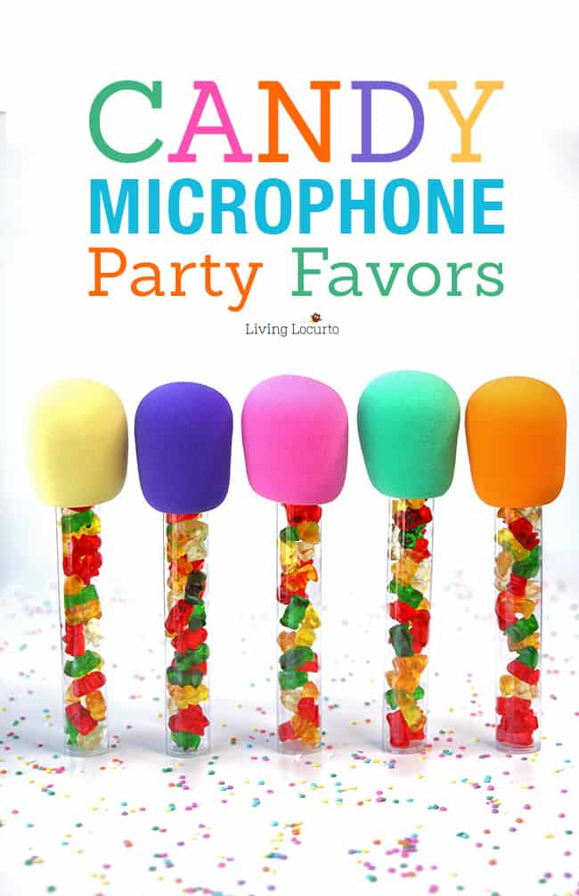 Candy Microphone Craft - Karaoke Birthday Party Favors