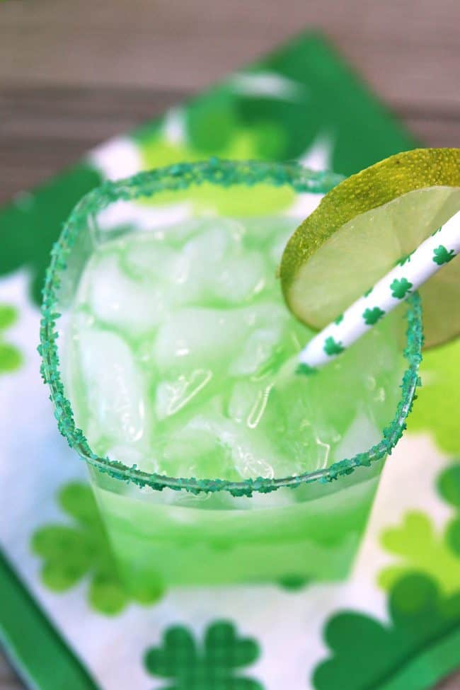The Best Green Margarita for St. Patrick's Day!