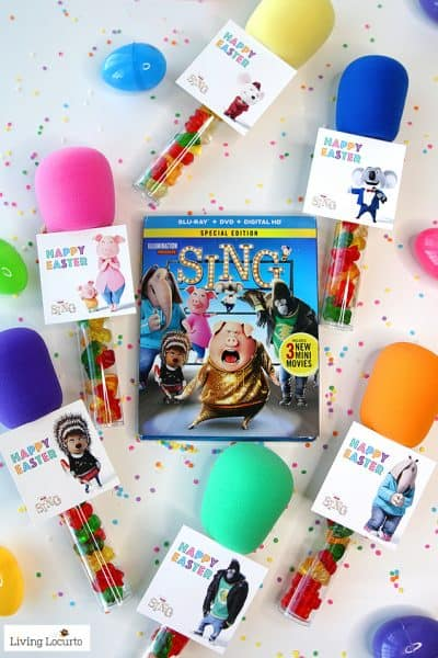SING Easter Candy Microphone Party Favors