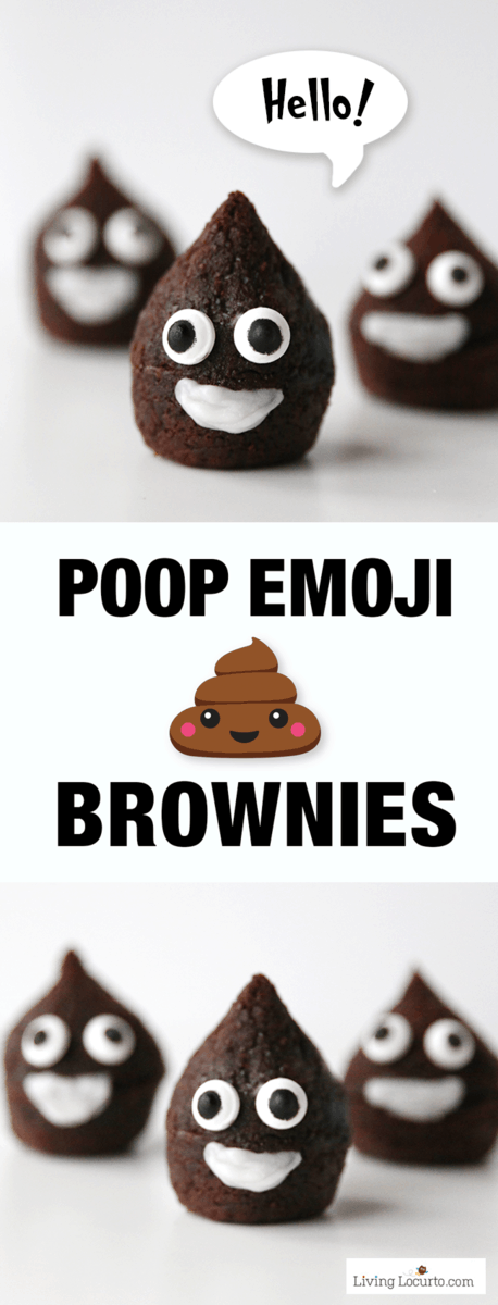These easy to make Poop Emoji Brownies are the cutest party dessert! A perfect chocolate treat for an Emoji Birthday Party celebration.