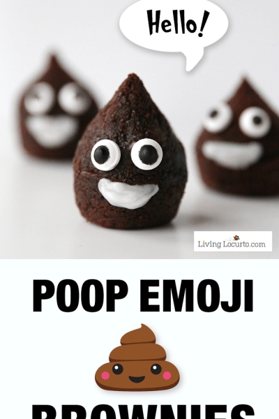 Poop Emoji Brownies