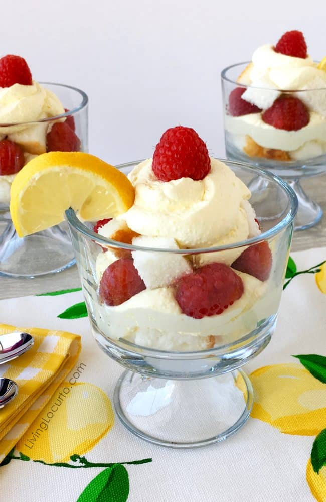 This delicious lemon trifle recipe is a simple layered dessert you can whip up in no time!