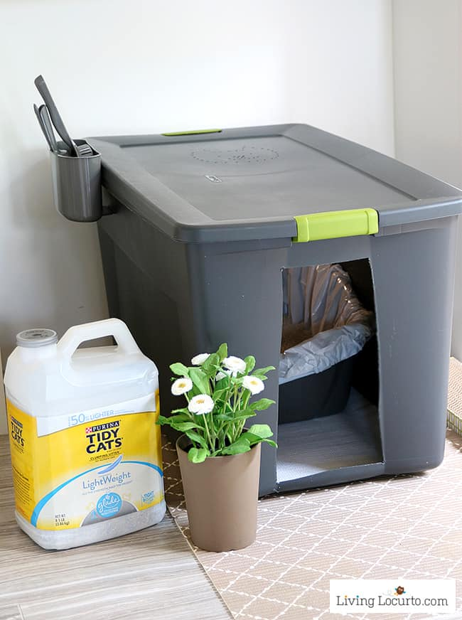 how to move cat litter box
