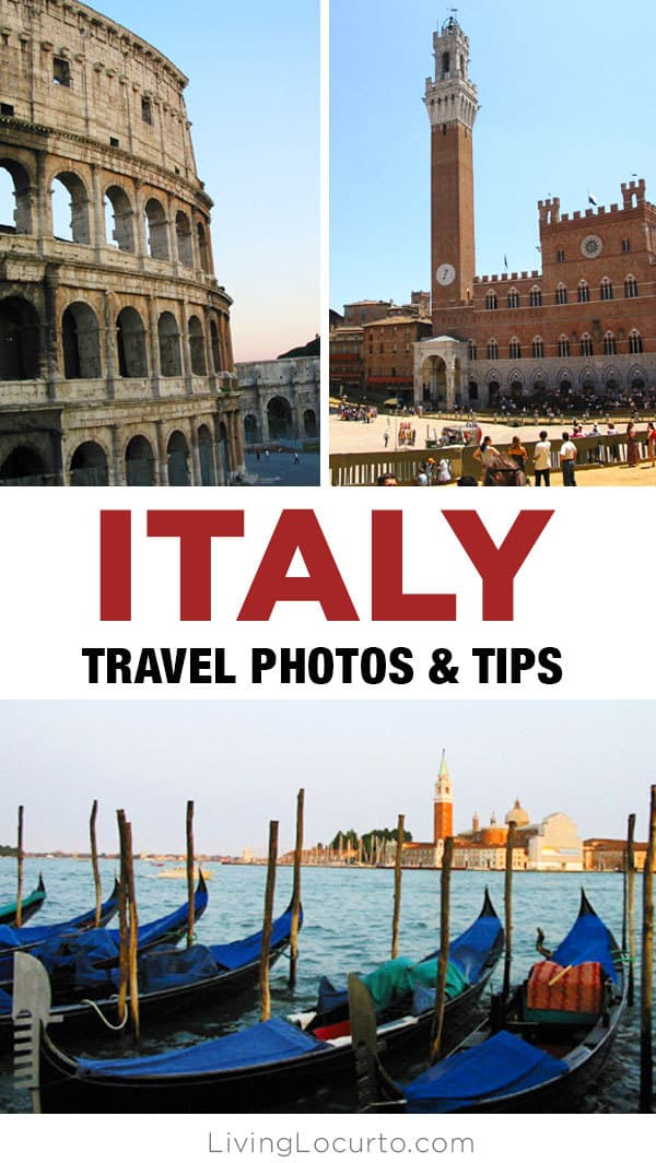 Italy travel tips from of our vacation to Venice, Florence and Rome. Italy is a gorgeous country and should definitely be on your bucket list! Travel blogger tips to help you plan your Italian european vacation. #travel #italy #trip #vacation #rome #venice #florence #italyvacation #traveltips #livinglocurto #bucketlist #travelling #traveller