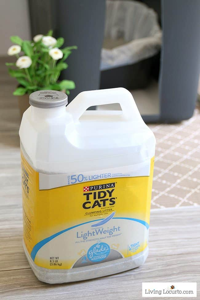 A DIY Cat Litter Box Holder is a simple homemade way to hide a kitty litter box. TIdy Cats LightWeight Litter
