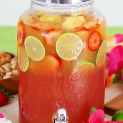 Tropical Rum Punch Recipe - Fruit Luau Party Drink