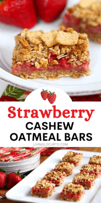 Strawberry Cashew Oatmeal Bars Breakfast Recipe