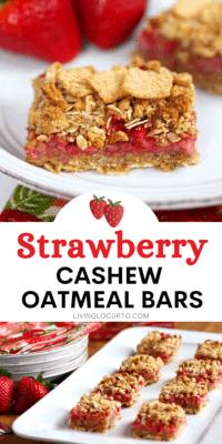 Strawberry Cashew Oatmeal Bars Breakfast Recipe