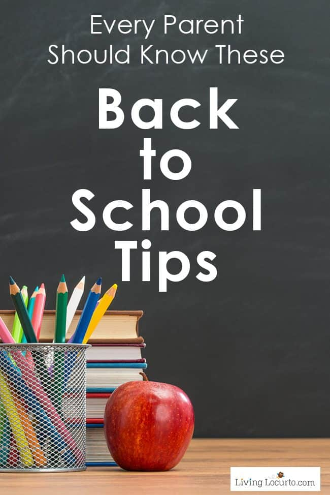 Four back to school tips every parent should know! Organizing tips, school lunch ideas, recipes, first day of school photos and back to school printables for kids.