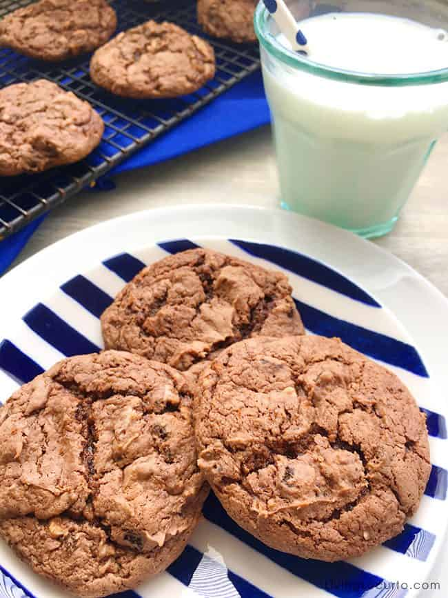 OREO Chocolate Cake Mix Cookies and Cream Cookies are rich cake mix cookies filled with pieces of OREO cookies.