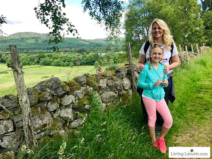 Hiking trails near Loch of the Lowes. 5 Best Outdoor Scotland Family Vacation Ideas! Amazing nature trips in Scotland for families. Kid friendly Scottish highlands vacation ideas and travel tips. Amy Locurto Travel Blogger LivingLocurto.com