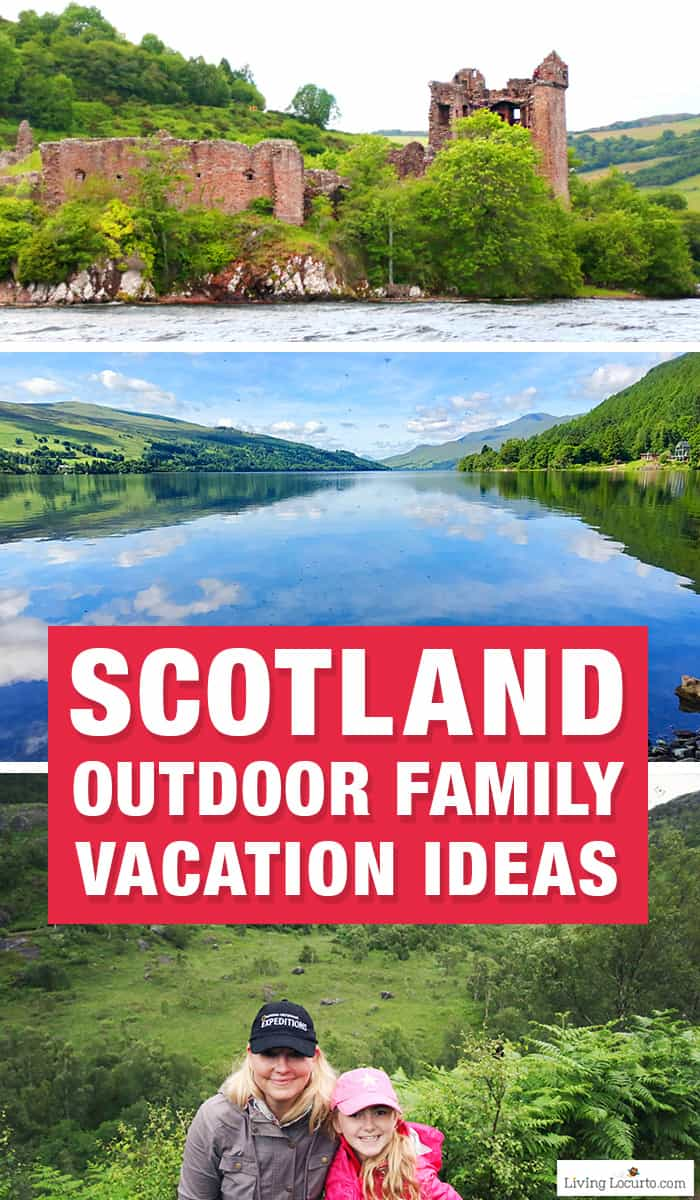 5 Best Outdoor Scotland Family Vacation Ideas! The best outdoor nature trips in Scotland for families. Kid friendly Scotland family vacation ideas and travel tips by Amy Locurto, travel blogger. LivingLocurto.com. Fun outdoor activities in the Scottish highlands.