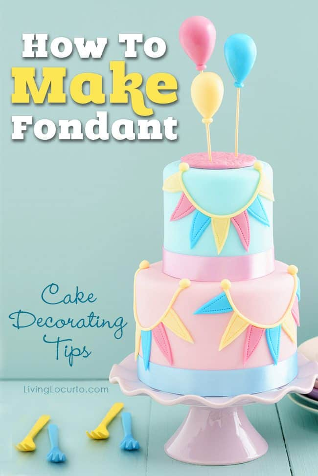 How to make fondant icing and simple cake decorating tips! Enjoy an easy homemade rolled fondant recipe and inspiring cakes to bake for your next party.