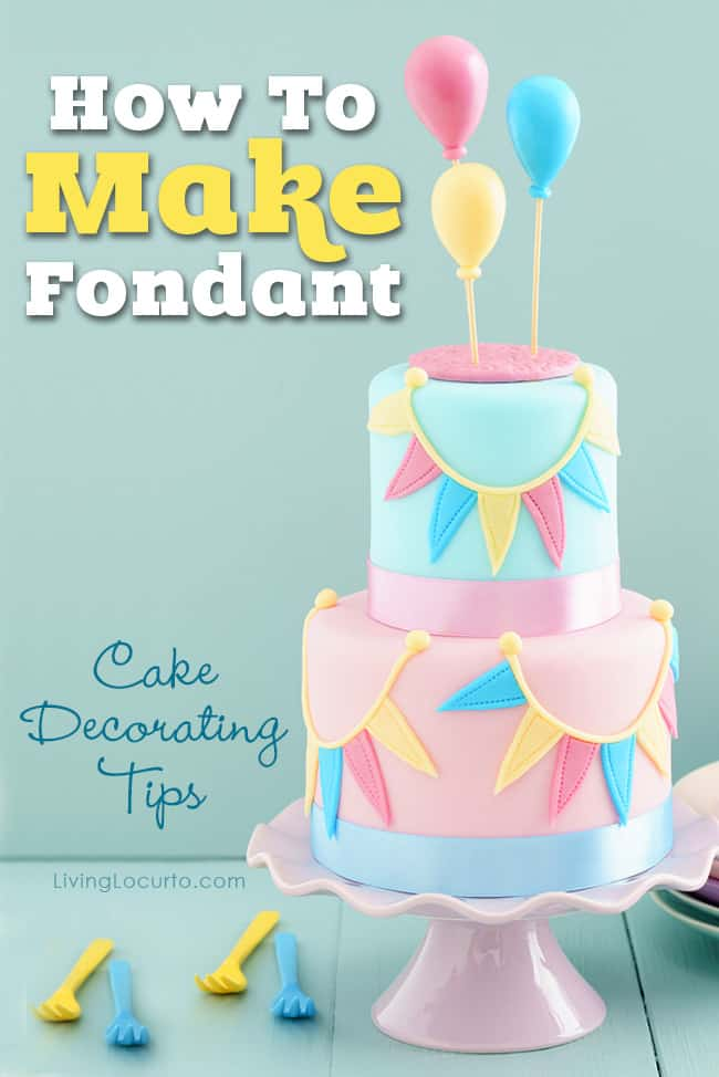How to make fondant easy recipe and cake decorating tips - How to make decorative cakes ...