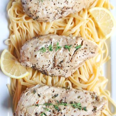 Instant Pot Lemon Garlic Chicken Recipe