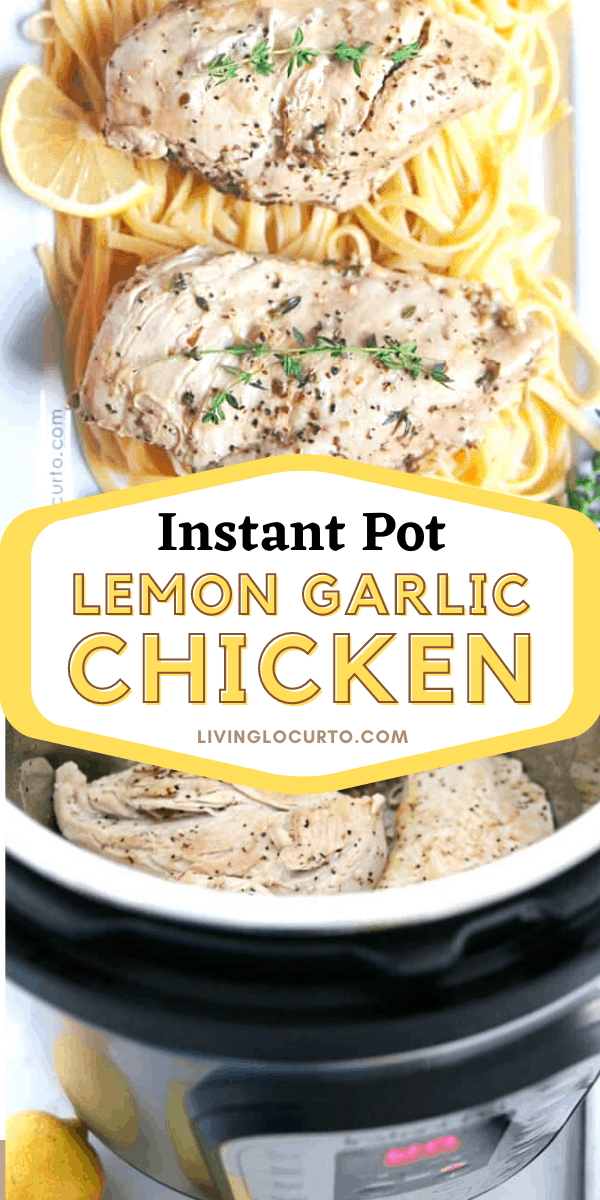 Instant pot lemon garlic chicken breast recipe with pasta