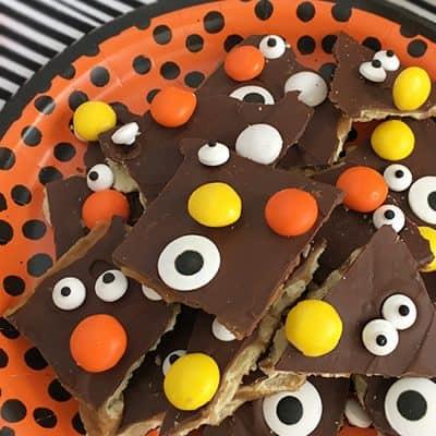 Halloween Chocolate Toffee Crackers