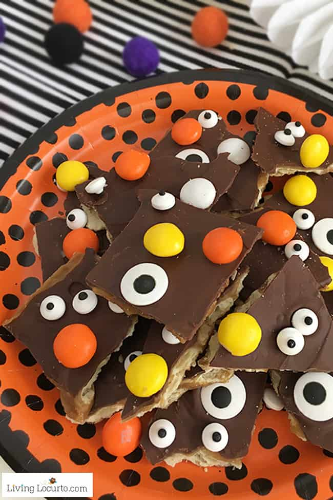 Halloween Crack Easy Saltine Toffee Candy Recipe
