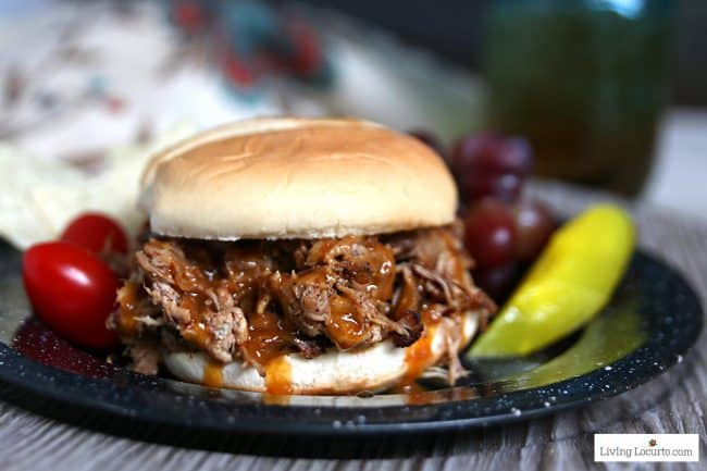 Instant Pot Pulled Pork BBQ Sandwich Pressure Cooker Recipe