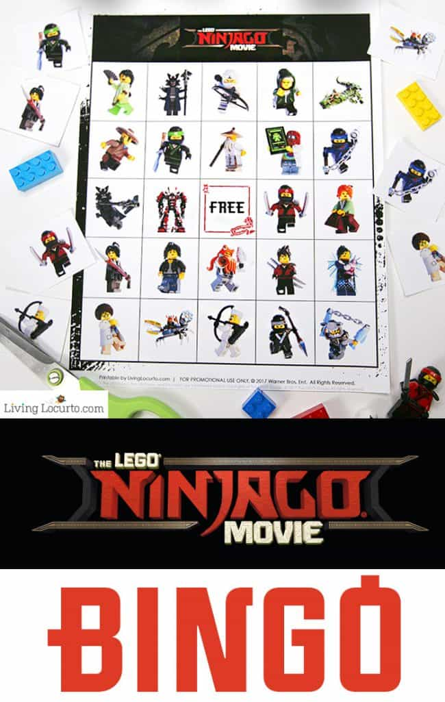 Free printable LEGO NINJAGO Movie Bingo game. Fun kids activity for a birthday party or family game night! LEGO Bingo