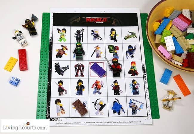 Free printable LEGO NINJAGO Movie Bingo game. LEGO Bingo Cards