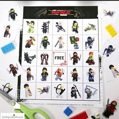 LEGO NINJAGO Movie Bingo