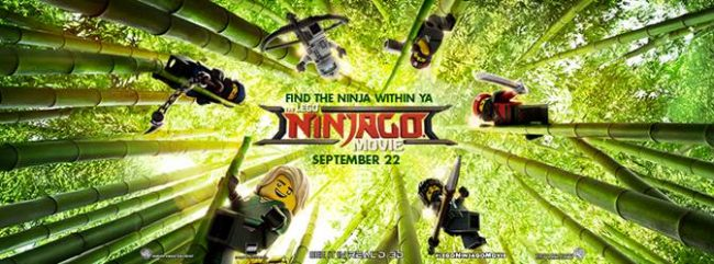 The LEGO NINJAGO Movie Bingo game.