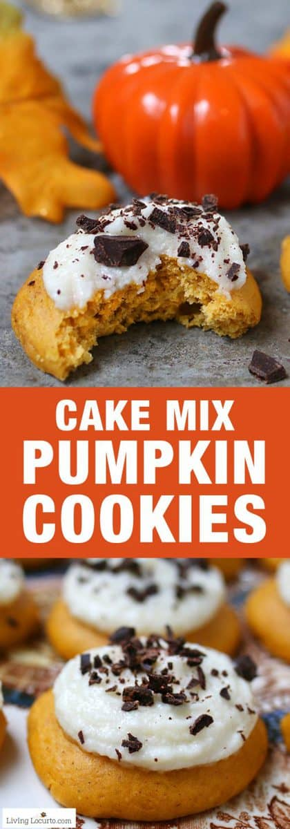 Pumpkin-Cookie-Cake-Mix-Cookies-Recipe-Living-Locurto-Pumpkin-Spice-Pinterest