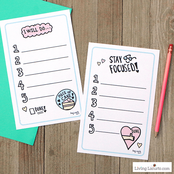 Cute Printable To-Do Lists and time management tips to help you stay focused in a fun way!