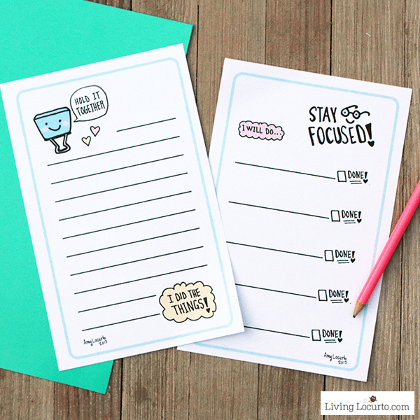 Cute Printable To-Do Lists. How to stay focused time management tips. LivingLocurto.com