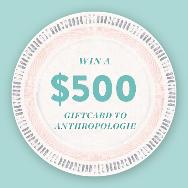 $500 Anthropologie Gift Card Giveaway!