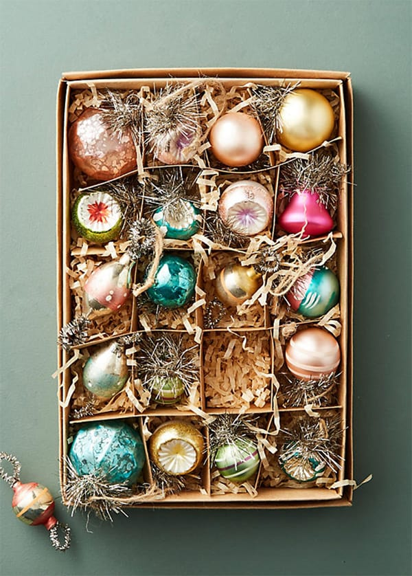Vintage Christmas Ornaments $500 Anthropologie Gift Card Giveaway!
