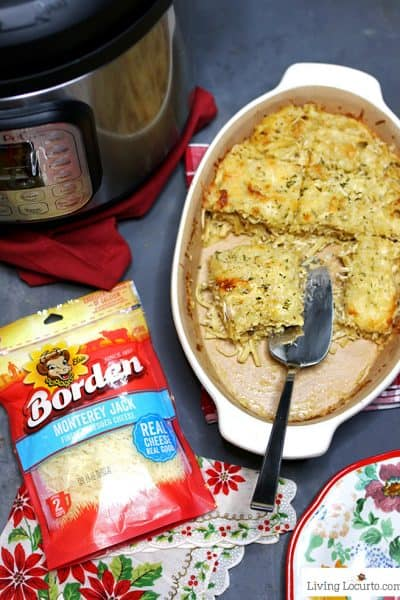 Cheesy Instant Pot Chicken Tetrazzini