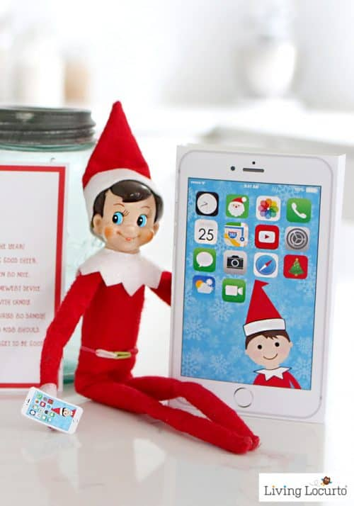 Elf Phone Cute Printable Christmas Elf on the Shelf Idea