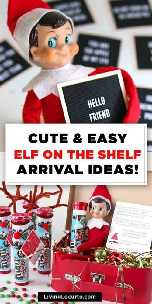 CUTE Elf on the Shelf Arrival Ideas Printables