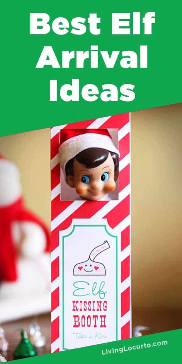 Elf on the Shelf Arrival Ideas! Cute Printables to help make Christmas easier. LivingLocurto.com