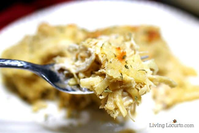 An easy one pot Instant Pot Chicken Tetrazzini recipe made in a pressure cooker.