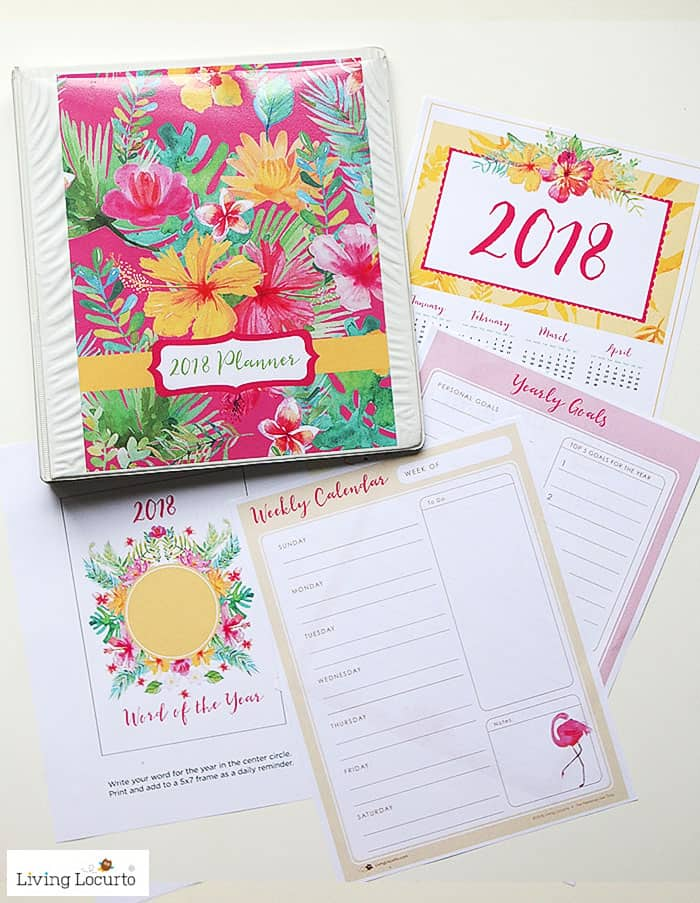 Join the Living Locurto Fun Club for exclusive printables - 2018 Planner