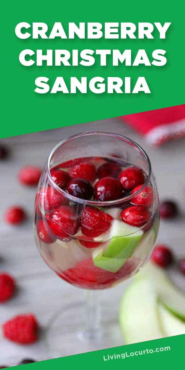 Cranberry Christmas Sangria Recipe - Easy cocktail holiday drink
