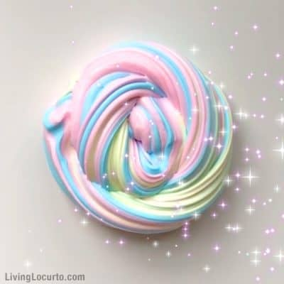 Rainbow Unicorn Fluffy Slime Recipe