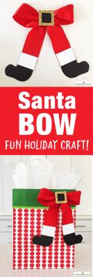 Santa Bow Christmas Craft