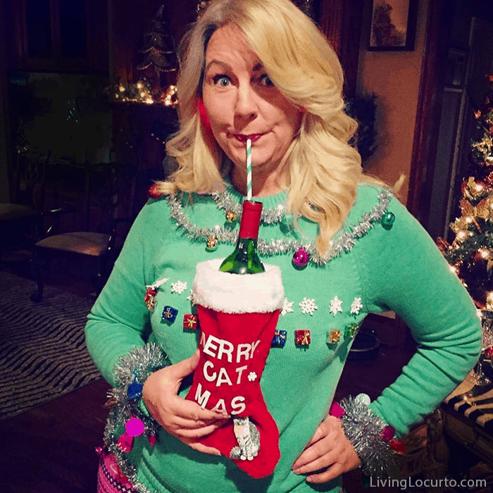 funny ugly christmas sweater party ideas how to make a wine bottle sweater and ugly