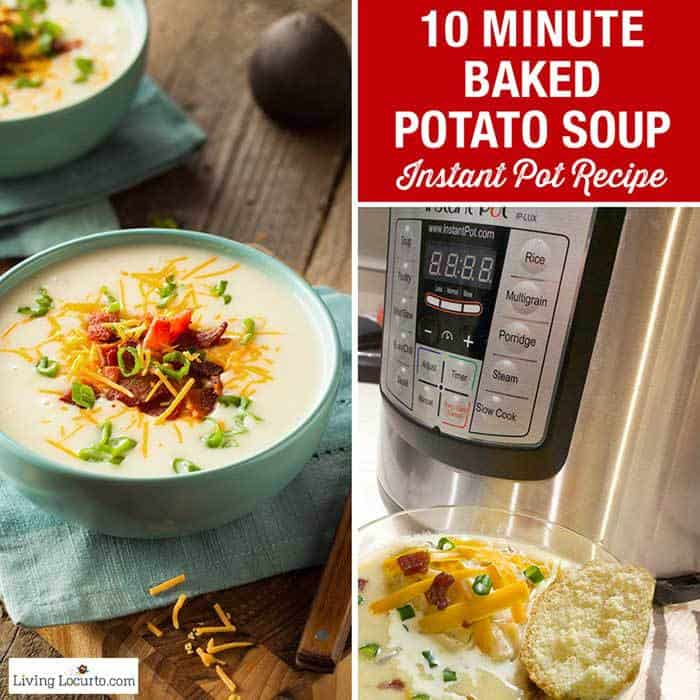 Easy Instant Pot Baked Potato Soup Recipe for a quick family dinner.