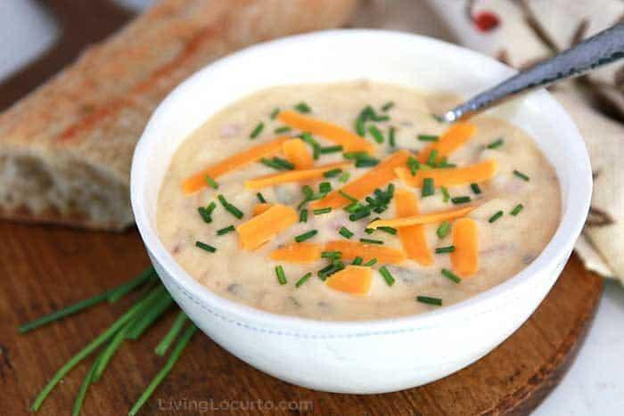 The BEST Instant Pot Potato Soup recipe. Tasty Loaded Baked Potato Soup everyone loves.
