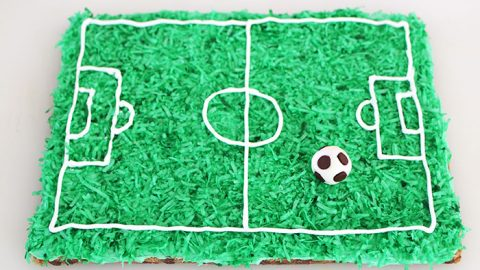 Superb Soccer Cookie Cake Easy Soccer Party Cake Recipe Personalised Birthday Cards Petedlily Jamesorg