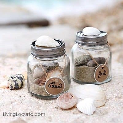 Vacation in a Jar keepsake. Get creative with these 50 Mason Jar crafts and recipes.