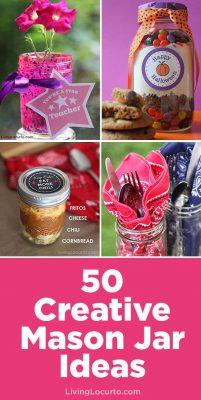 50 Diy Mason Jar Crafts And Recipes Living Locurto