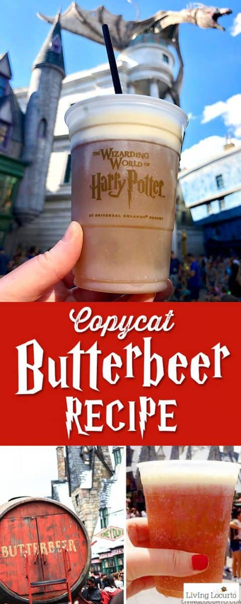 Homemade Butterbeer Recipe - Harry Potter Copycat Drink for Frozen Butterbeer at home.